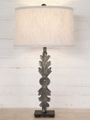 Leaf custom iron table lamp