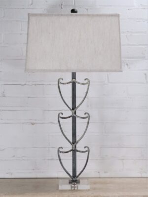 Shield custom iron table lamp