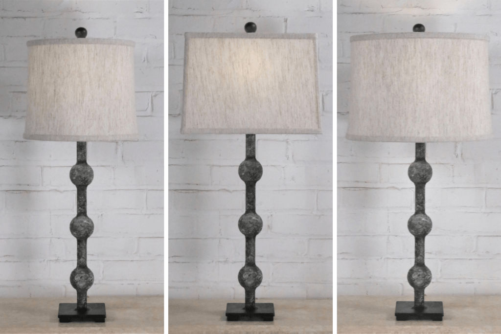 Graphic showing varying lamp shade sizes